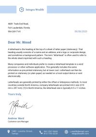 Blue Standard Letterhead