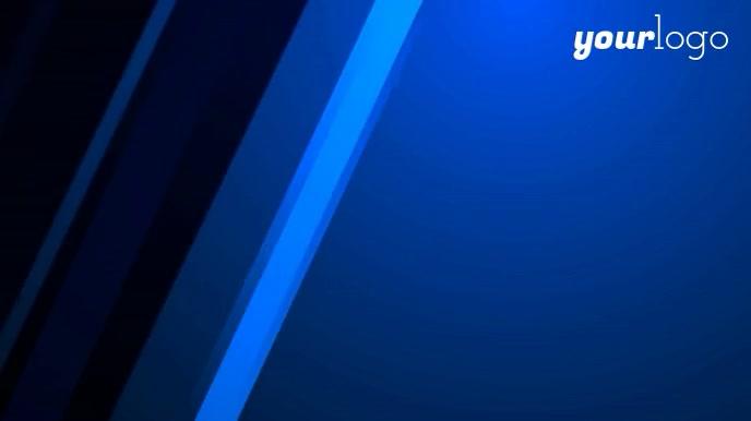 Garis Biru Konferensi Zoom Latar Belakang Templat   PosterMyWall