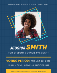 Blue Student Council Election Flyer