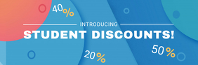 Blue Student Discounts Email Header