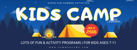 Blue Summer Camp Advertisement Banner
