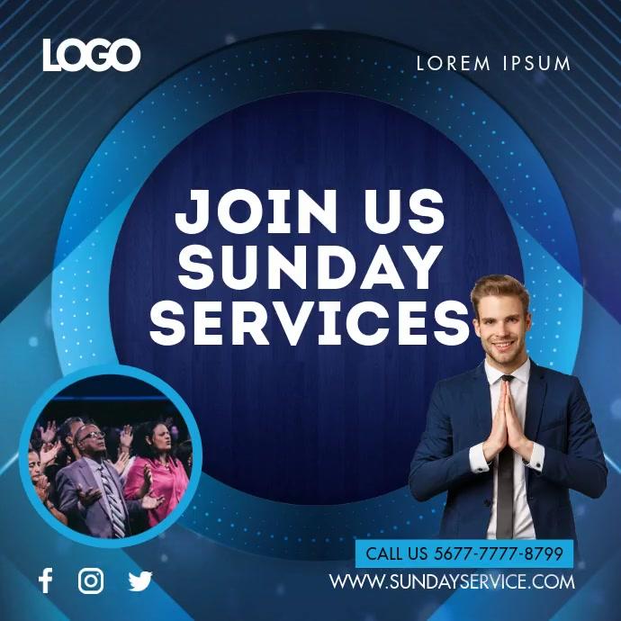 Blue Sunday Service Invite Slideshow
