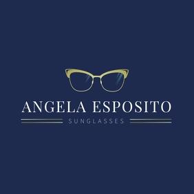 Blue Sunglasses Logo template