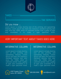 Blue Tax Services Flyer Template