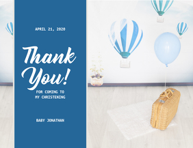 Blue Thank You Card Template