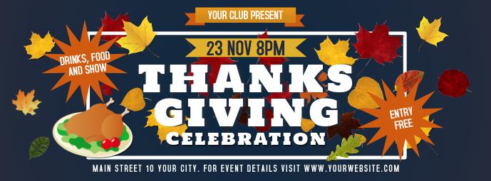 Blue Thanksgiving Facebook Cover Photo