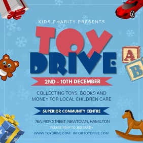 Blue Toy Drive Fundraising Instagram Video