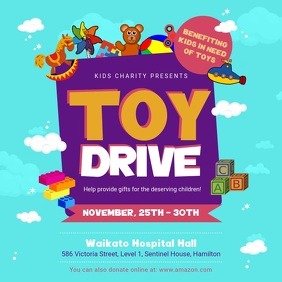 Blue Toy Drive Fundraising Square Video