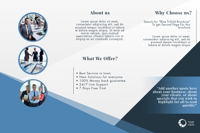 Blue Trifold Brochure Template
