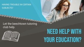 Blue Tutor Video Ad Template