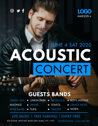 Blue Unplugged Concert Poster Template