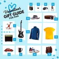Blue Valentine's Gift Guide for Men Instagram template