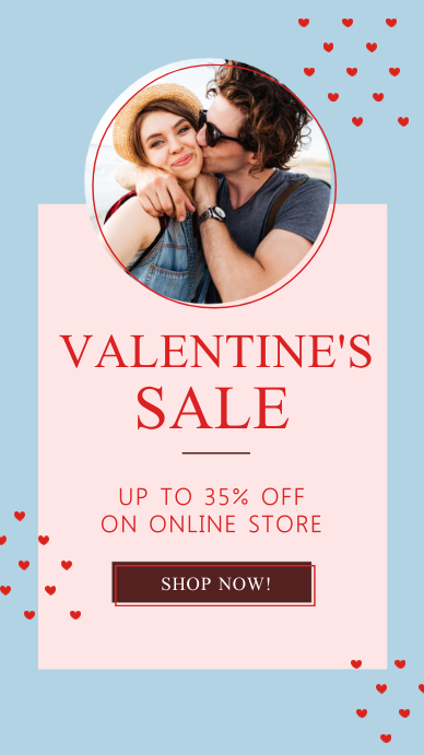 Blue Valentine's Sale Instagram Story