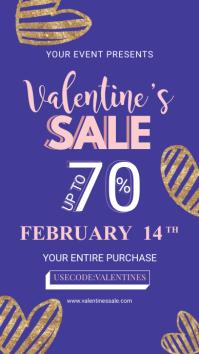Blue Valentine Retail Digital Display Advert История на Instagram template