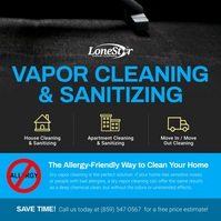 Blue Vapor Cleaning Square Video template