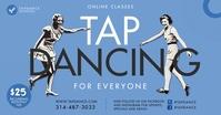 Blue Vintage Online Tap Dancing Class Faceboo Gedeelde afbeelding op Facebook template
