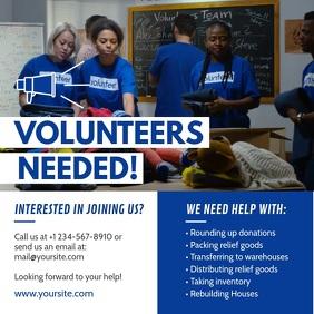 Blue Volunteering Drive Square Video