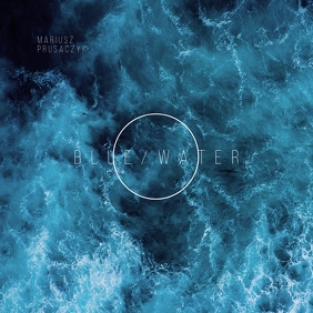 Blue Water Clean CD Cover Art Template