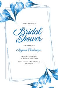 Blue Wedding Bridal Shower Invitation