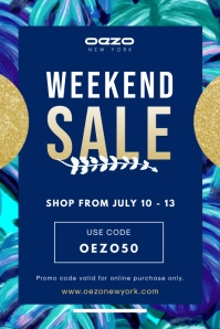 Blue Weekend Sale Promo Banner