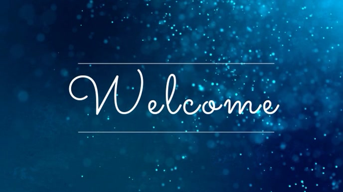 Blue Welcome Church Video Template Affichage numérique (16:9)