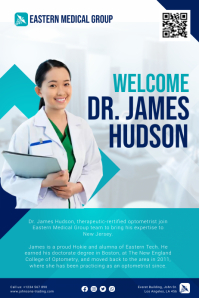 Blue Welcome To The Team Healthcare Flyer Tem Poster template