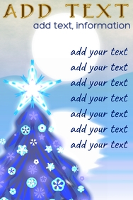 blue winter pine landscape for info or list