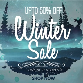 Blue Winter Sale Video Template