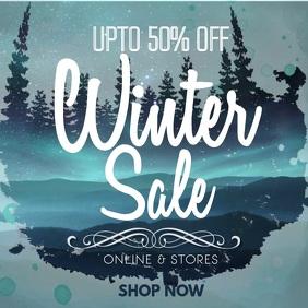 Blue Winter Sale Video Template
