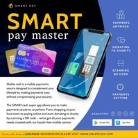 Blue Wireless Banking App Advertisement Video Carré (1:1) template