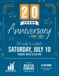 Blue Work Anniversary Invitation Flyer template