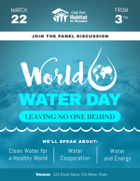 Blue World Water Day Event Flyer