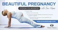 Blue Yoga Facebook Post Image template