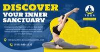 Blue Yoga Facebook Shared Image template