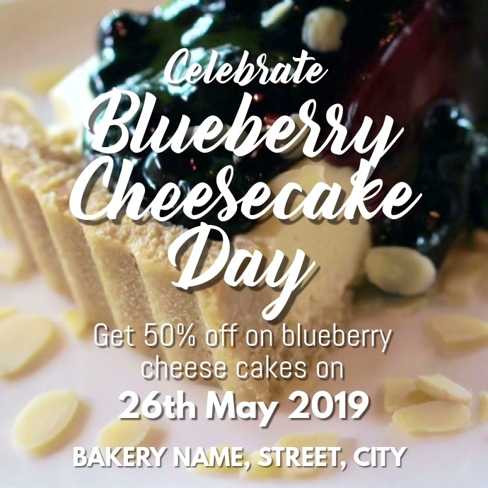Blueberry cheese cake Day