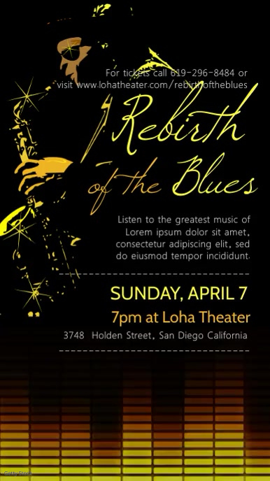 Blues and Jazz Concert Video Advert
