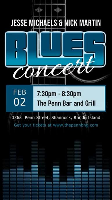Blues and Rock Concert Digital Display Video