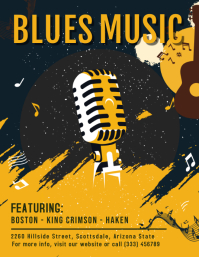 Blues Concert Band Line-up Flyer Volantino (US Letter) template