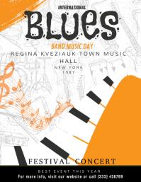 Blues Musical Festival Flyer
