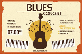 Blues Rock Music Concert Poster