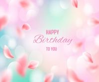 Blurred Happy Birthday Background Средний прямоугольник template