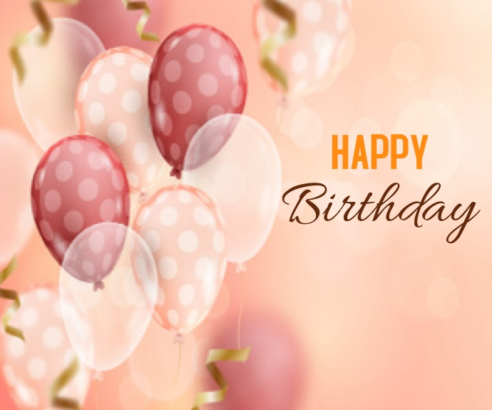 Blurred Realistic Happy Birthday Background Middelgrote rechthoek template