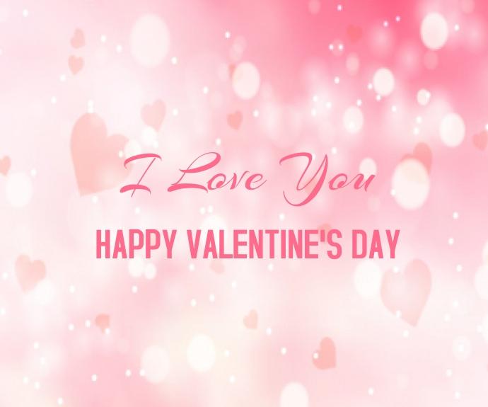 Blurred Valentine's Day Background Mellemstort rektangel template