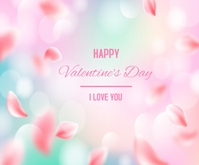 Blurred Valentine's Day Background Persegi Panjang Sedang template