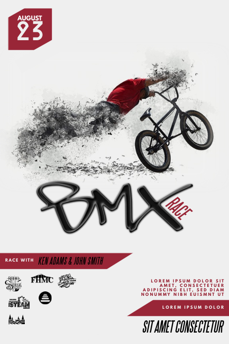 BMX Flyer Template