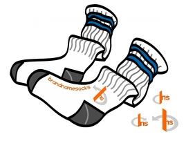 BNS B Brand Sports Socks Design Flyer (US Letter) template