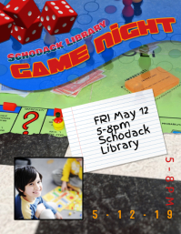 board game night flyer