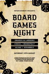 Board games Event Flyer Template