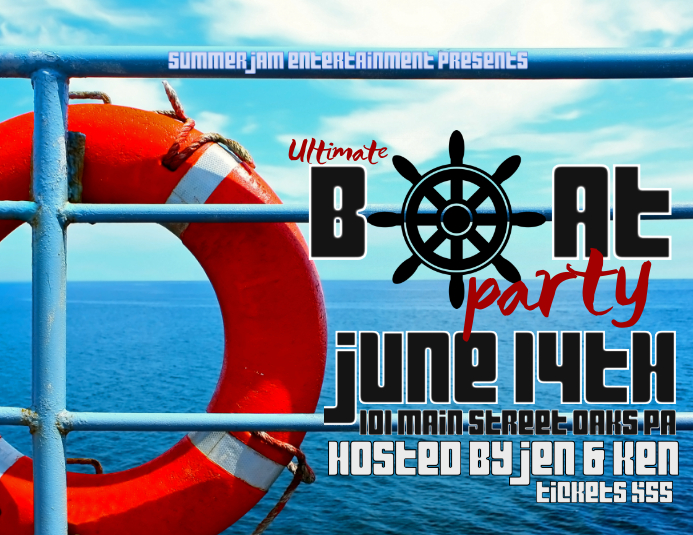 Boat Party Template Postermywall