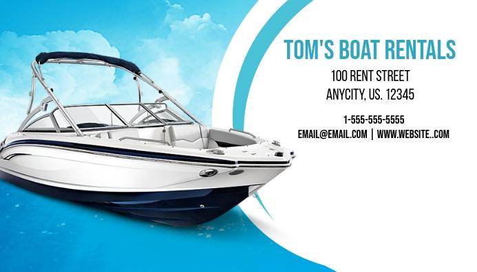 Boat Rental Business Card Visitkort template